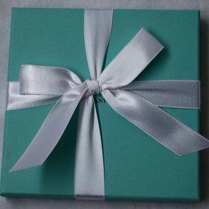 Authentic Tiffany & Co. Blue Gift Box Ribbon Empty